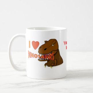 J aime la bande dessinée Tyrranosaurus Rex de dino Mug À Café