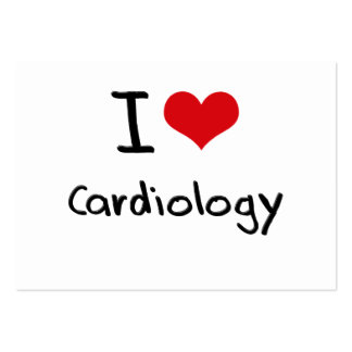 J aime la cardiologie cartes de visite professionnelles
