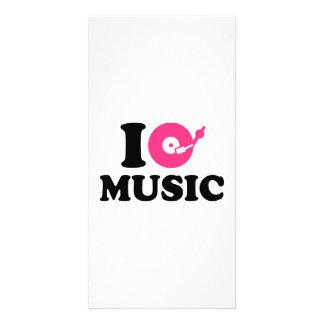 J aime la musique DJ Cartes Avec Photo
