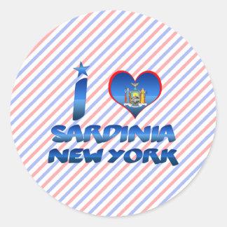 J aime la Sardaigne New York Adhésif