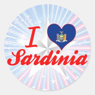 J aime la Sardaigne New York Autocollants