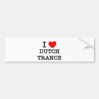 J aime la transe néerlandaise autocollants pour voiture
