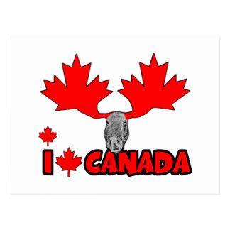 J aime le Canada Cartes Postales