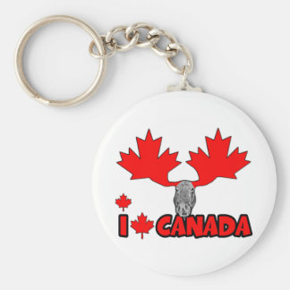 J aime le Canada Porte-clé
