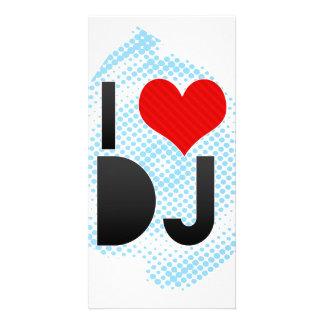 J aime le DJ Photocartes Personnalisées
