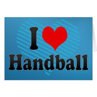 J aime le handball carte de vœux