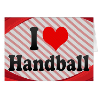 J aime le handball cartes de vœux
