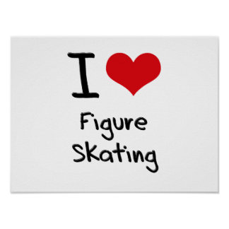 J aime le patinage artistique affiches