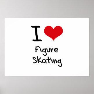 J aime le patinage artistique poster