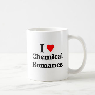 J aime le produit chimique Romance Tasses
