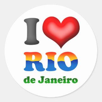 J aime le Rio de Janeiro Brésil la ville merveill Adhésifs