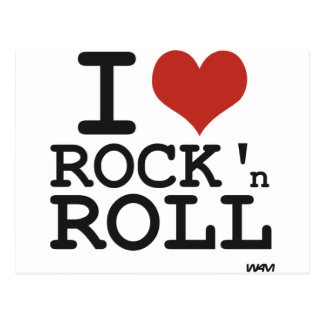 J aime le rock carte postale