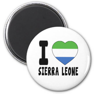 J aime le Sierra Leone Aimant