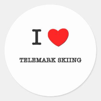 J aime le ski de Telemark Autocollants