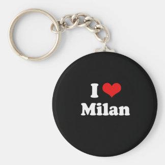 J aime le T-shirt de blanc de T-shirt de Milan Porte-clé