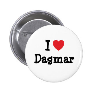 J aime le T-shirt de coeur de Dagmar Pin's Avec Agrafe