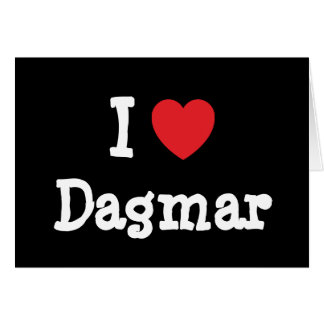J aime le T-shirt de coeur de Dagmar Carte De Vœux