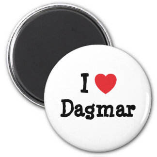 J aime le T-shirt de coeur de Dagmar Aimant