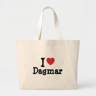 J aime le T-shirt de coeur de Dagmar Sac De Toile