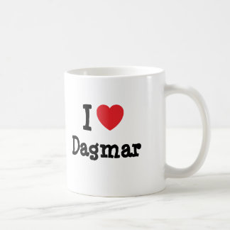 J aime le T-shirt de coeur de Dagmar Tasse