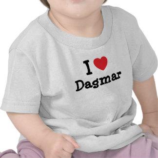 J aime le T-shirt de coeur de Dagmar