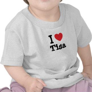 J aime le T-shirt de coeur de Tisa