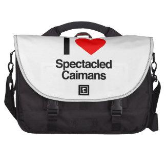 j aime les caimans à lunettes sac pour ordinateurs portables