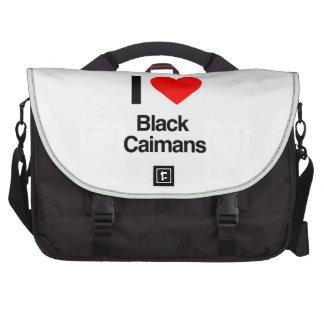 j aime les caimans noirs sacoche ordinateurs portables