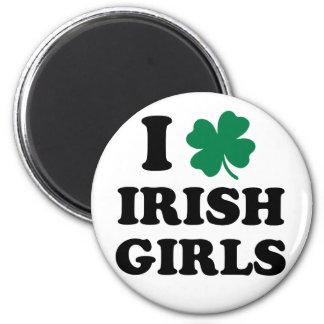 J aime les filles irlandaises aimant pour réfrigérateur