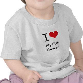 J aime mon agriculteur de poissons t-shirt