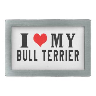 J aime mon bull-terrier boucle de ceinture