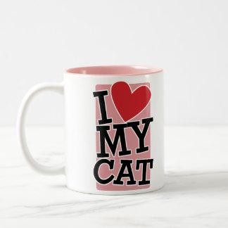 J aime mon chat tasse à café