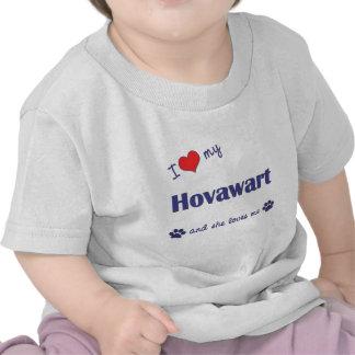 J aime mon Hovawart le chien femelle T-shirts
