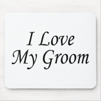 J aime mon marié la jeune mariée tapis de souris