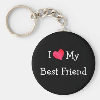 J aime mon meilleur ami porte-clefs