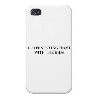 J aime rester à la maison avec Kids jpg Coque iPhone 4 Et 4S