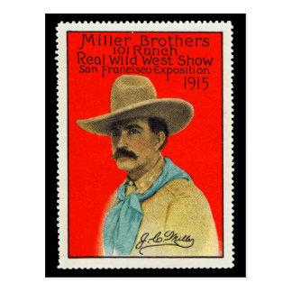 J.C. Miller de la carte de timbre d'affiche de 101