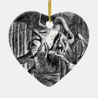 Jabberwocky Ornement Cœur En Céramique