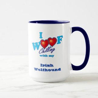J'aboie le chien-loup irlandais mug