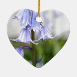 Jacinthes des bois ornement cœur en céramique
