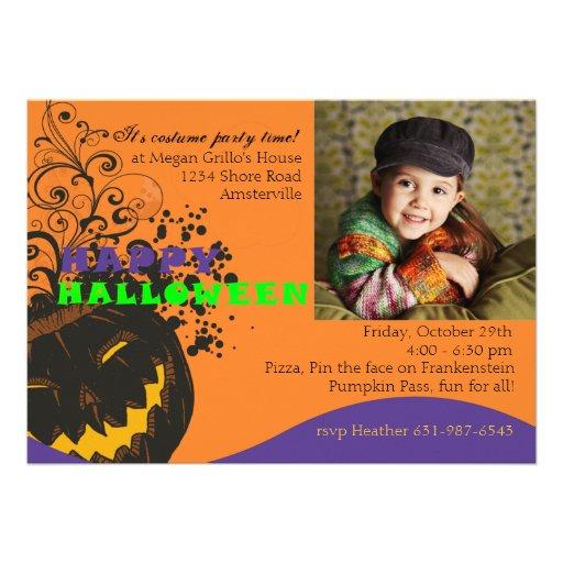 Jack-o'-lantern gai - invitation de Halloween