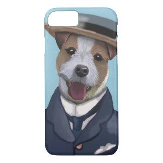 Jack Russell dans le chapeau en paille Coque iPhone 7