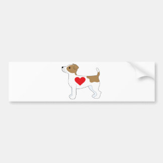 Jack Russell Terrier Autocollant Pour Voiture