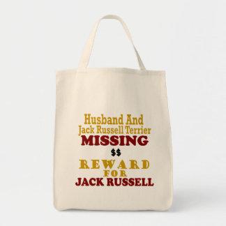 Jack Russell Terrier et récompense absente de mari Sac Fourre-tout