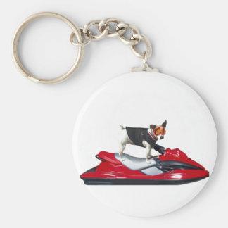 Jack Russell Terrier sur le porte - clé de scooter Porte-clé Rond