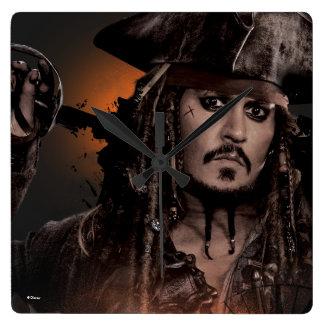Jack Sparrow - escroc Horloge Carrée