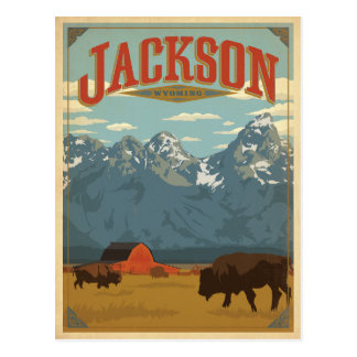 Jackson, WY Carte Postale