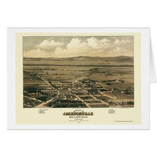 Jacksonville, OU carte panoramique - 1883