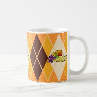 Jacquard de corne d'abondance mug
