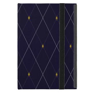 Jacquard lumineux de marine de diamant coque iPad mini